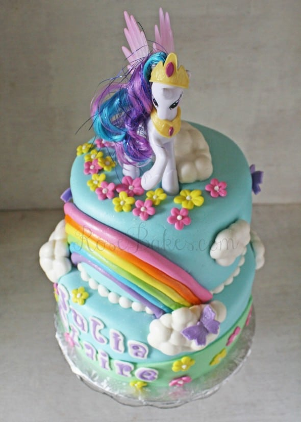 My Little Pony Rainbow Cake Above WM