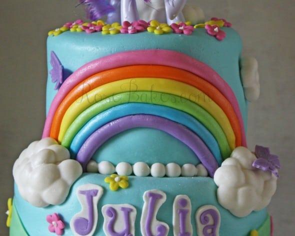 My Little Pony Rainbow on Cake