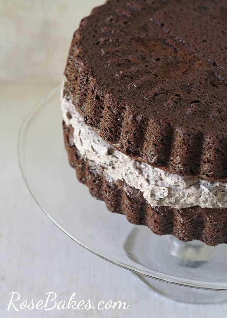 Chocolate Sandwich Cookie Cake Aka Oreo Cookie Cake