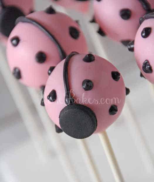 Pink Ladybug Cake Pops WM
