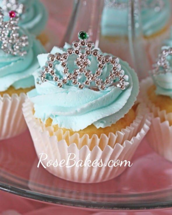Princess Cupcake with Rhinestone Tiara