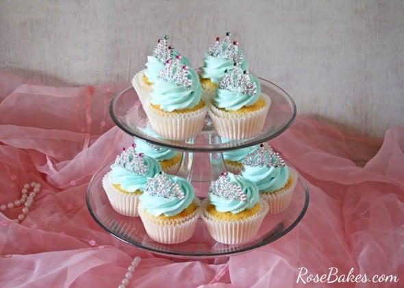 Princess Cupcakes with Tiaras Wide