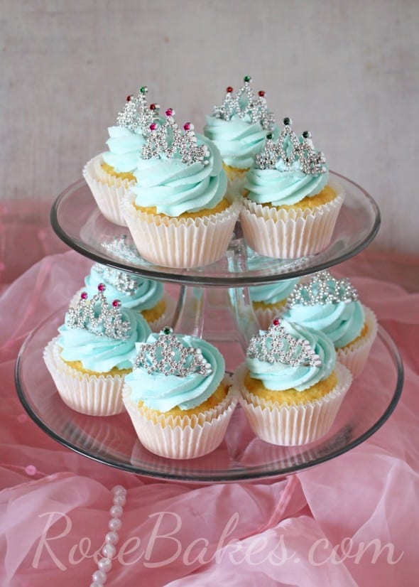 Princess Cupcake Images : Princess Cupcakes with Mini Tiaras - Rose Bakes