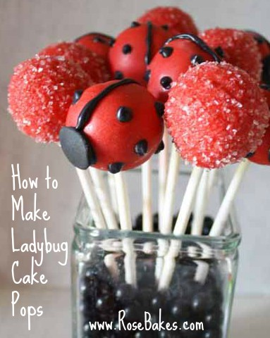 Red Ladybug Cake Pops Pin It