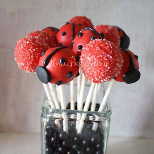 How To Make Ladybug Cake Pops Rose Bakes