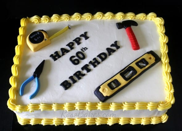 Tools 60th Birthday Cake