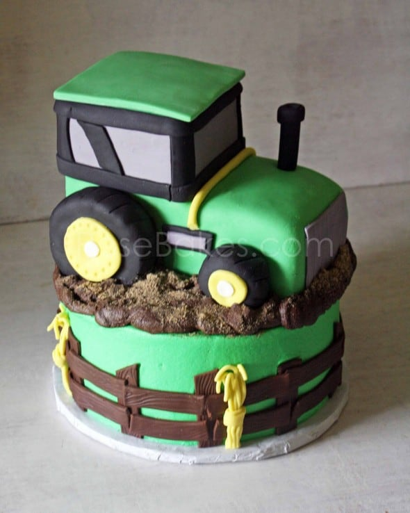 How To Make A John Deere Tractor Cake Topper