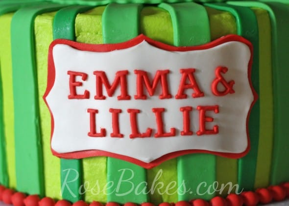 Watermelon Cake Name Plaque