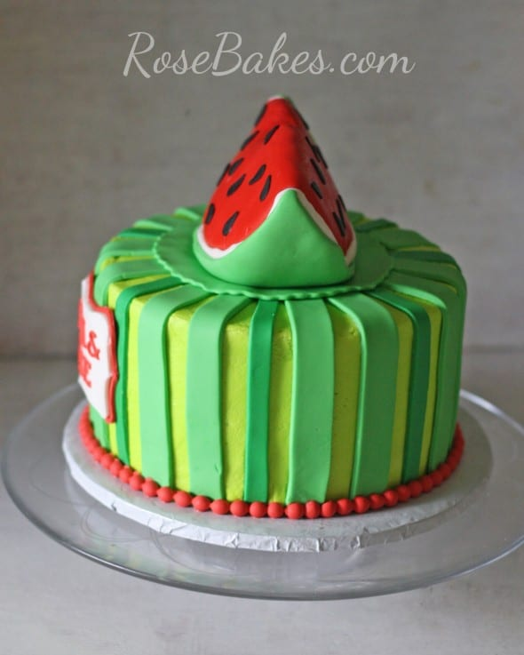 Watermelon Cake Side