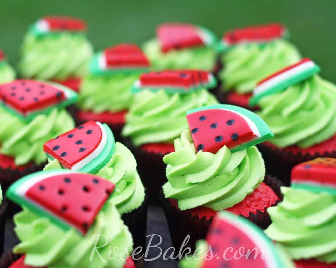 Watermelon Cupcakes Bokeh