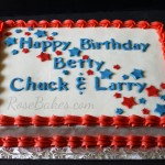 4th of July Birthday Sheet Cake