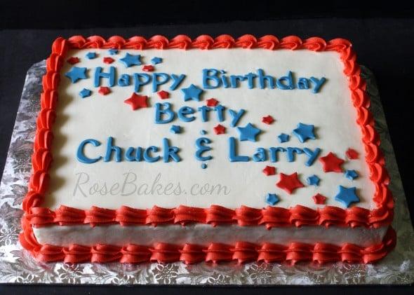 4th of July Birthday Sheet Cake