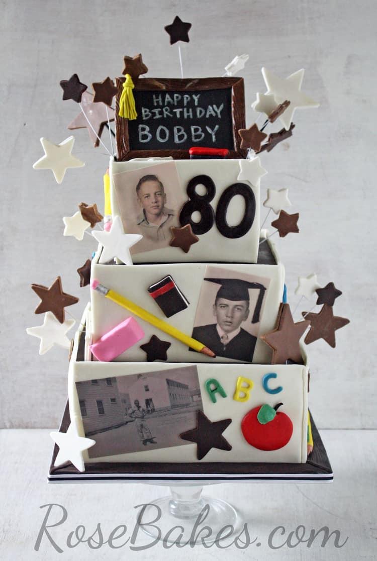 Bobby Retired Teachers 80th Birthday Cake