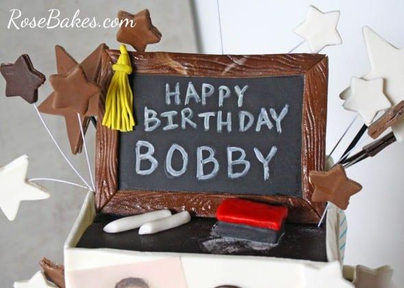 Retirement Cake Toppers Chalkboard Cake Topper