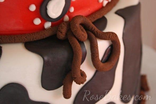 Cowboy Cake Single Strand Rope Border