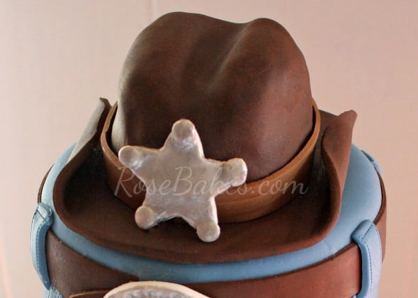Cowboy Hat Cake Topper Complete