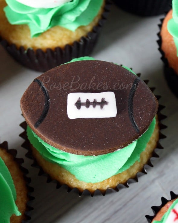 Easy Football Cupcake Topper
