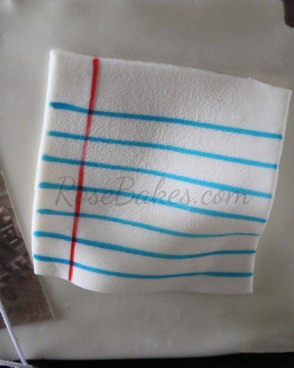 Fondant Notebook Paper