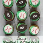 Football & Baseball Cupcake Toppers WM
