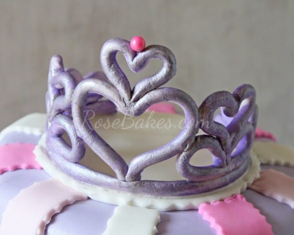 Gum Paste Hearts Tiara