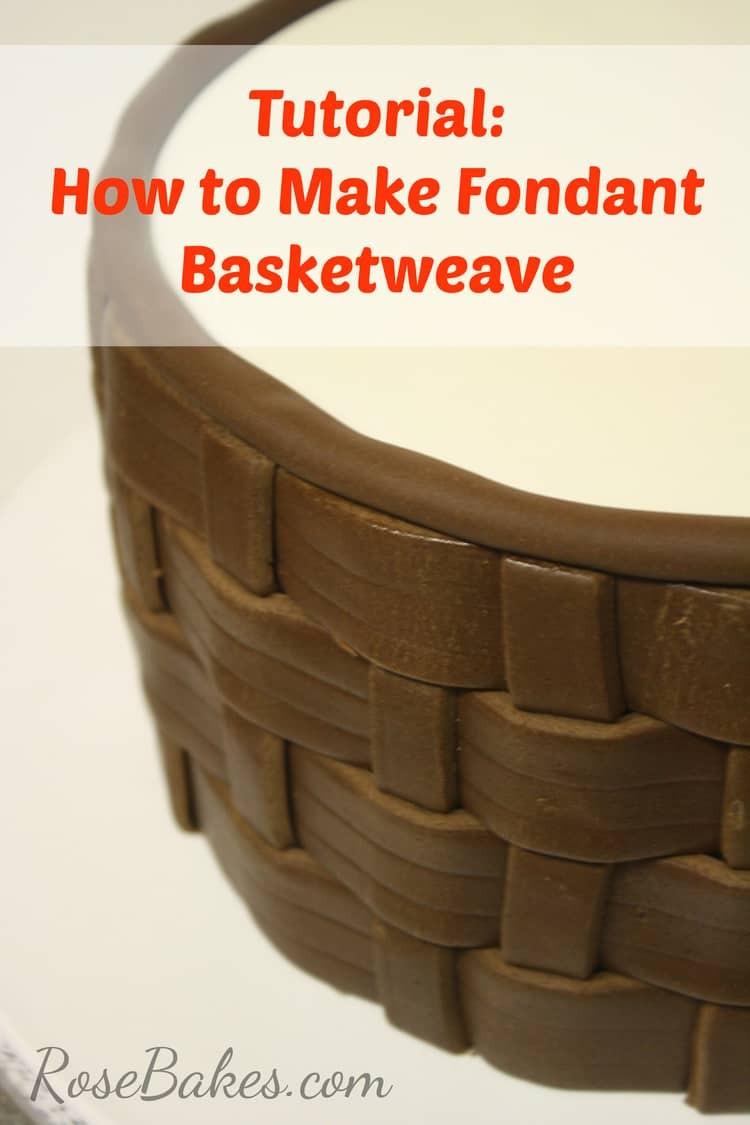How to weave the basket : How to make fondant basketweave rose bakes