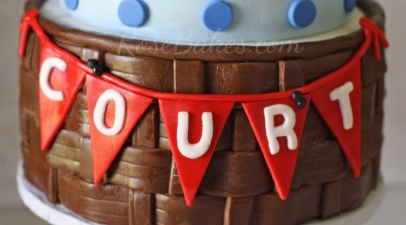 Name on Teddy Bear Picnic Cake WM