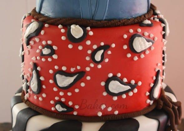 Paisley Bandana Cake Tier