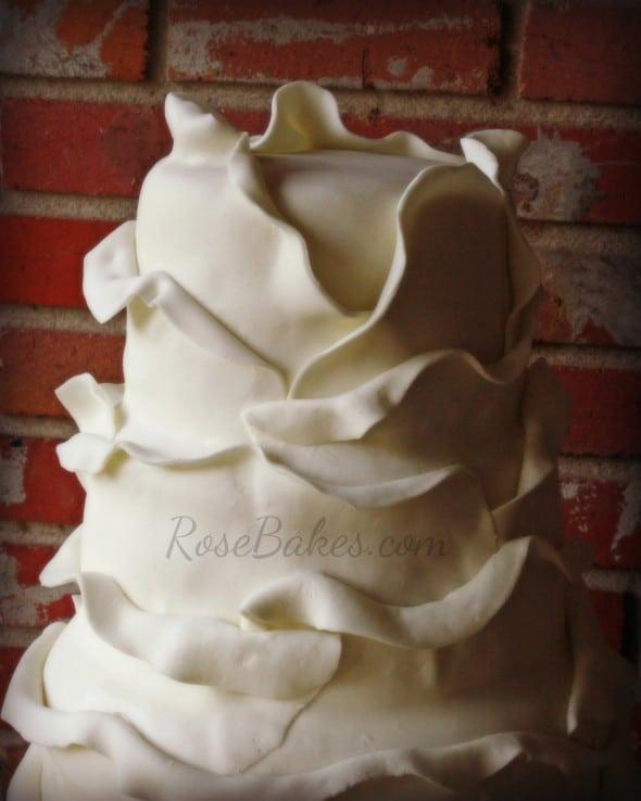 Petals Wedding Cake Top Soft