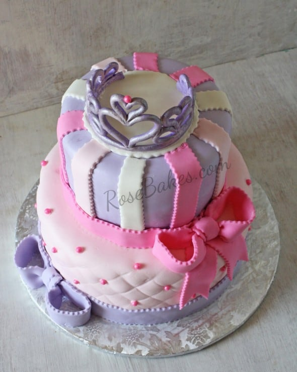 Princess Cake with Tiara & Bows