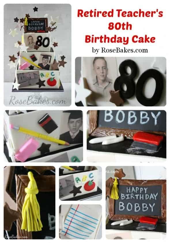 Retired Teachers 80th Birthday Collage