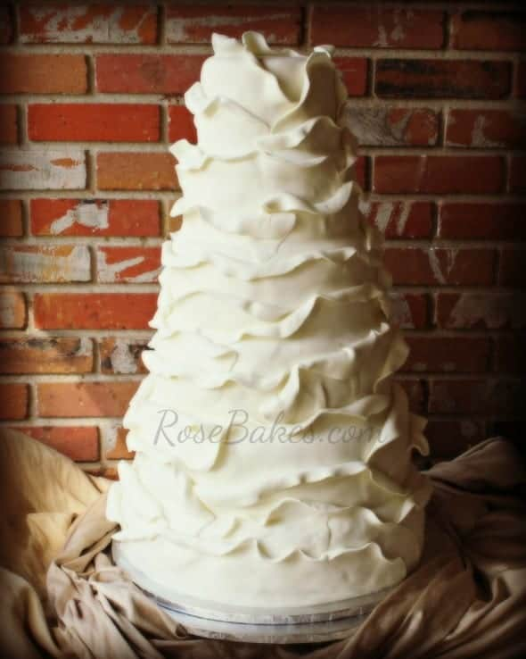 Ruffles Wedding Cake Soft
