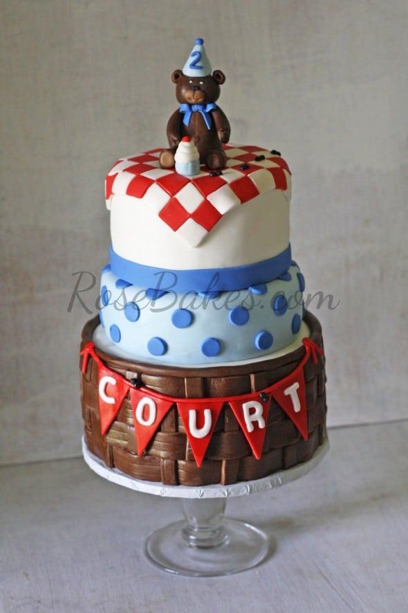 Teddy Bear Picnic Birthday Cake WM