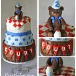 Teddy Bear Picnic Cake Collage WM