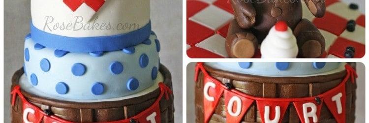 Teddy Bear Picnic Cake Collage WM