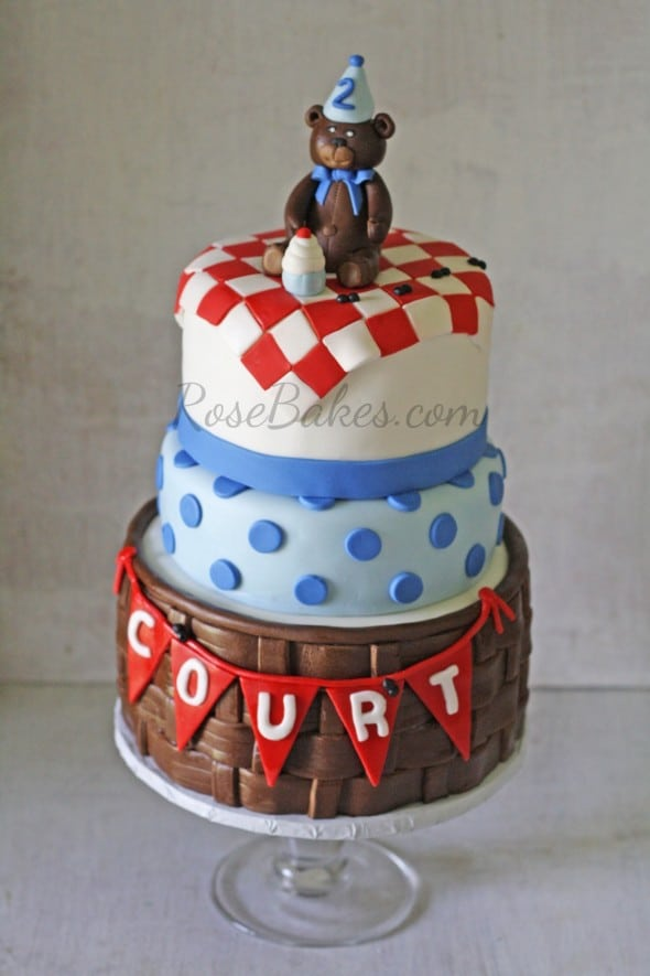 Teddy Bear Picnic Cake wm
