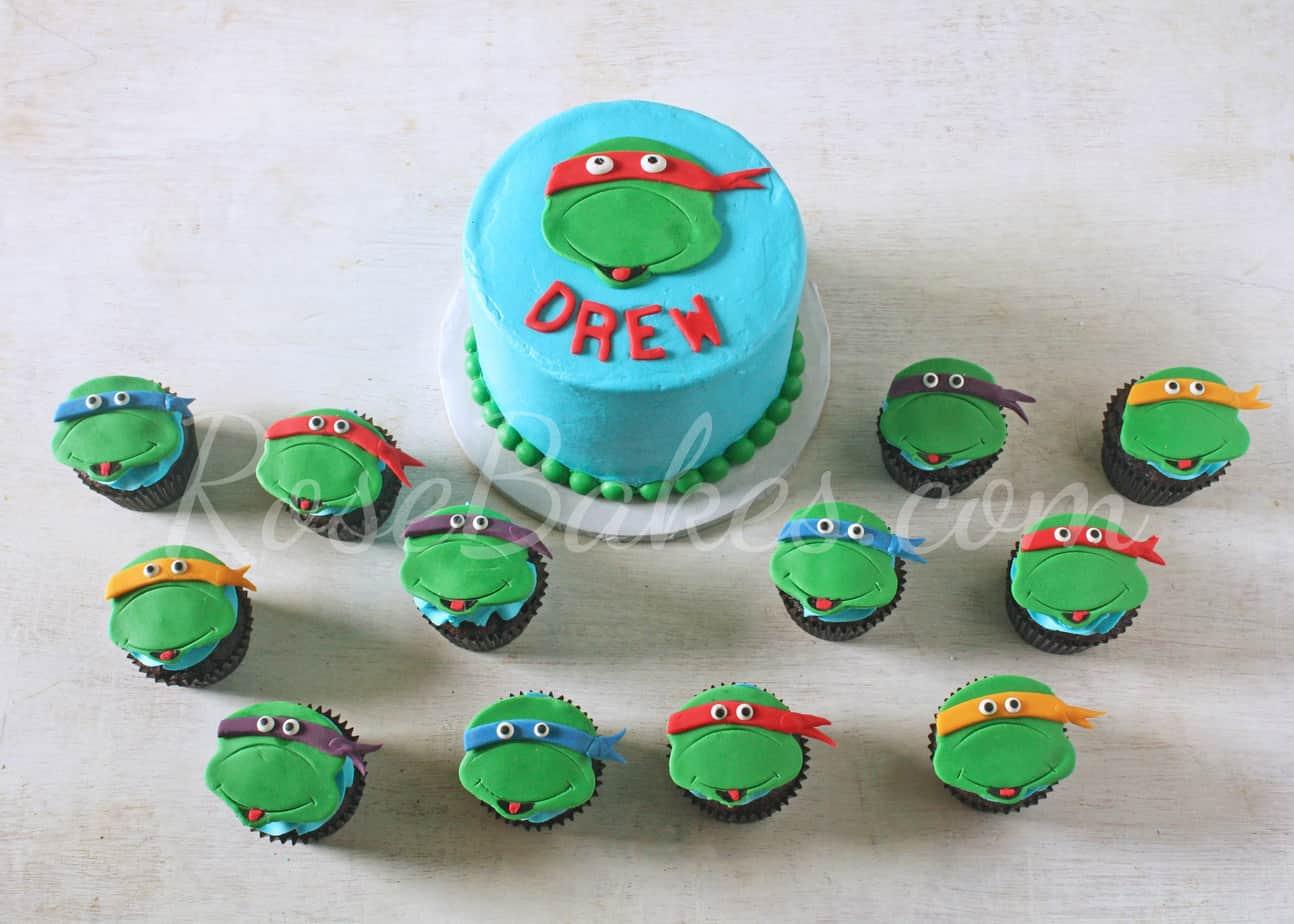 Teenage Mutant Ninja Turtle Cake and Smash Cakes