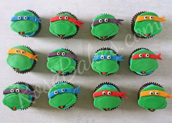 Teenange Mutant Ninja Turtle Cupcake Toppers