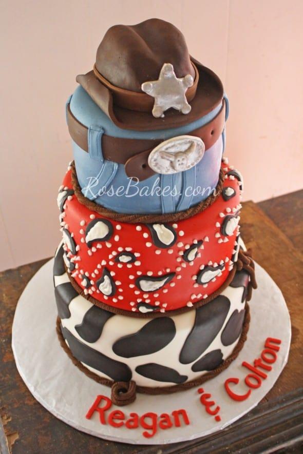 Black Top Hat Birthday Cake