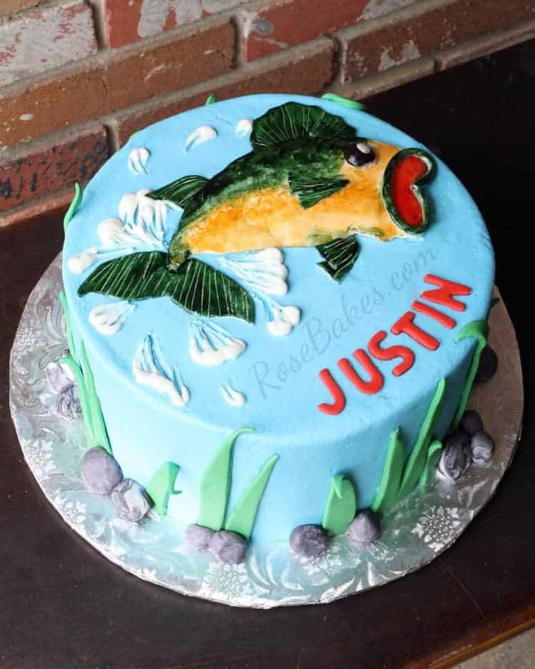 Fish Shaped Birthday Cake Recipe