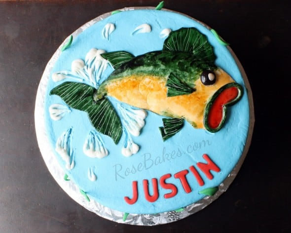 Bass Fish on Cake