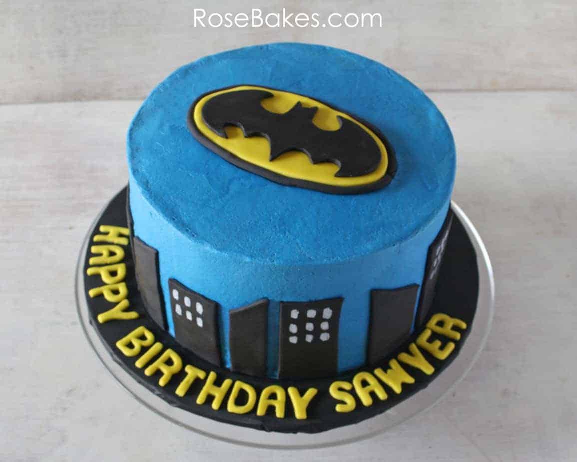 How To Make A Batman Fondant Cake