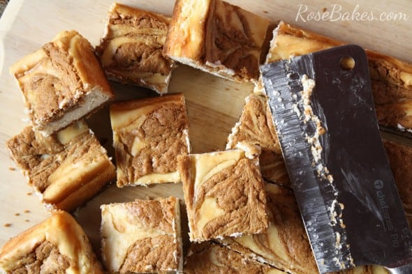Biscoff Cookie Butter Cheesecake Bars