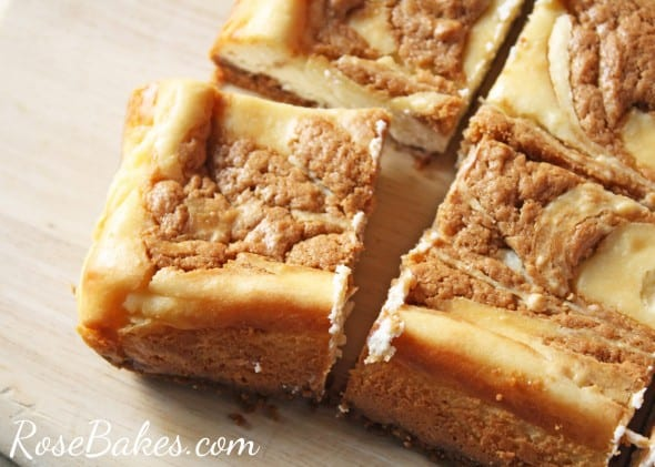 Biscoff Cookie Butter Cheesecake Bars Cut
