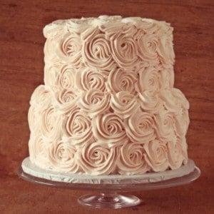Blush Buttercream Roses Cake