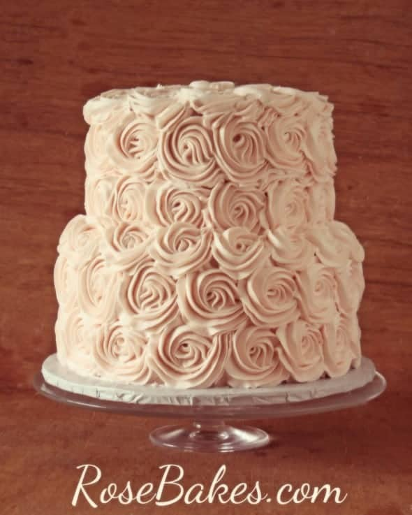 Blush Buttercream Roses Cake
