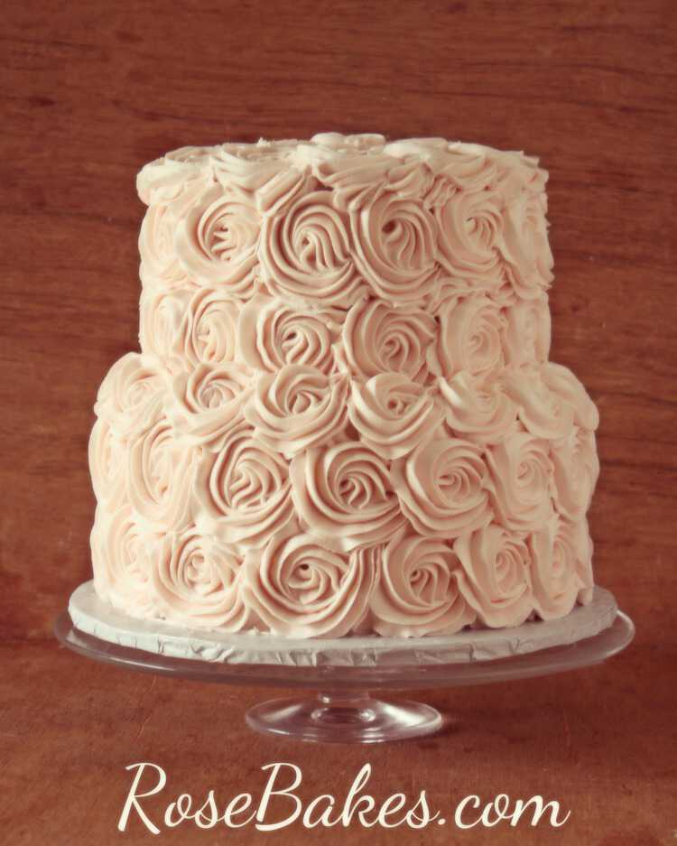Blush Roses Cake White Chocolate Buttercream Recipe Rose Bakes
