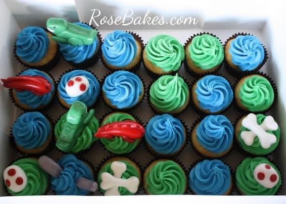 Boxed Dinosaur Cupcakes