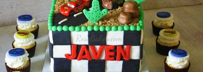 Disney Pixar Cars Cake Smash Cake Cars Cupcakes Rose Bakes