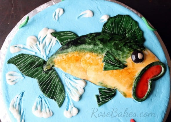 Fondant Bass Fish on Cake