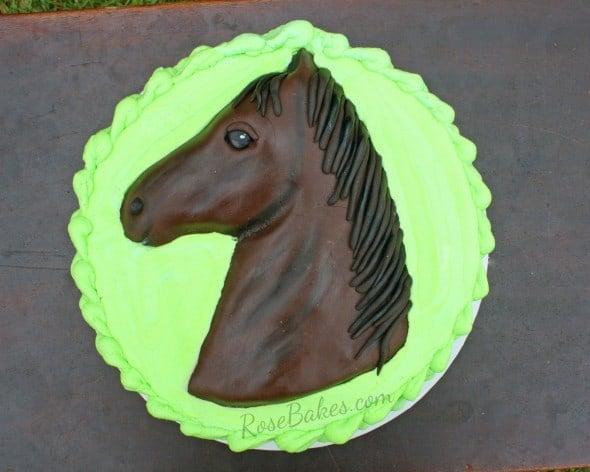 Horse Cake Above